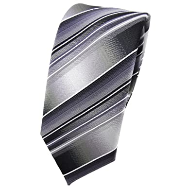TigerTie - corbata estrecha - gris plata antracita gris claro ...