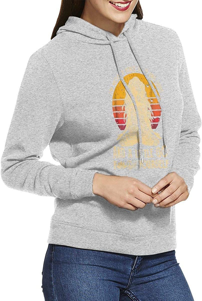 Im Mostly Peace Love and Light and A Little Go Yoga Jacket Hoodies for Lady