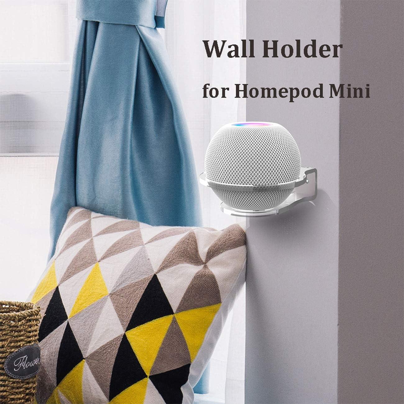 TOPVORK Support mural pour Homepod Mini support en acrylique pour haut-parleur Bluetooth