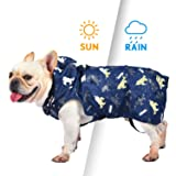 Pro Plums Color Changing Dog Raincoat Thick Full-Cover Rain Jacket with Detachable Hat and Storage Bag Dog Poncho for Small Medium Large Dogs
