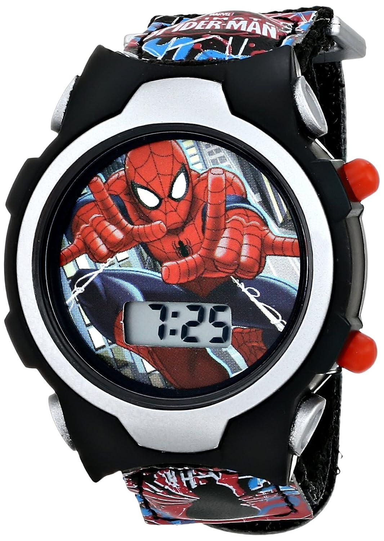 Marvel Kids' SPMKD503 Ultimate Spiderman Digital Display Quartz Black Watch