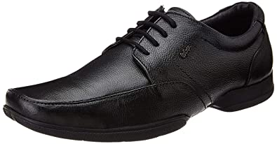 438009c601 Lee Cooper Men's Black Formal Modern Classic Lace up Leather Oxford Dress  Shoes ...