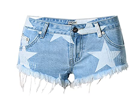 dbca9d3ab42 Sacing Women s Denim Hole Shorts