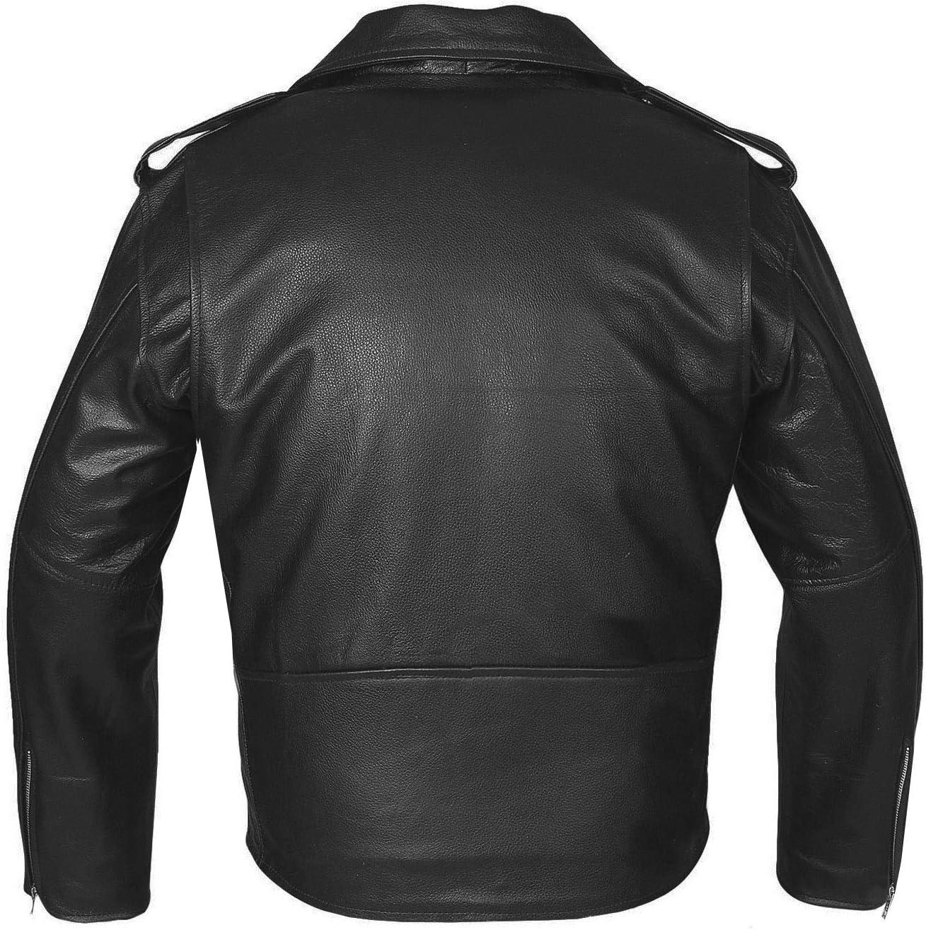 German Wear Rueda de Masters Moto Chaqueta de piel Negro//Rojo