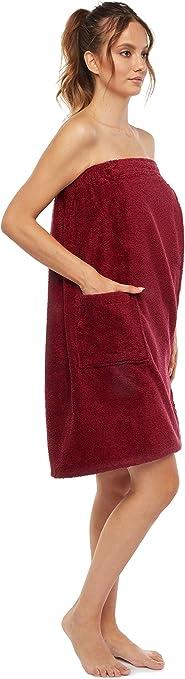 Arus Women S Gots Certified Organic 100 Turkish Terry Cotton Adjustable Closure Bath Wrap At Amazon Women S Clothing Store