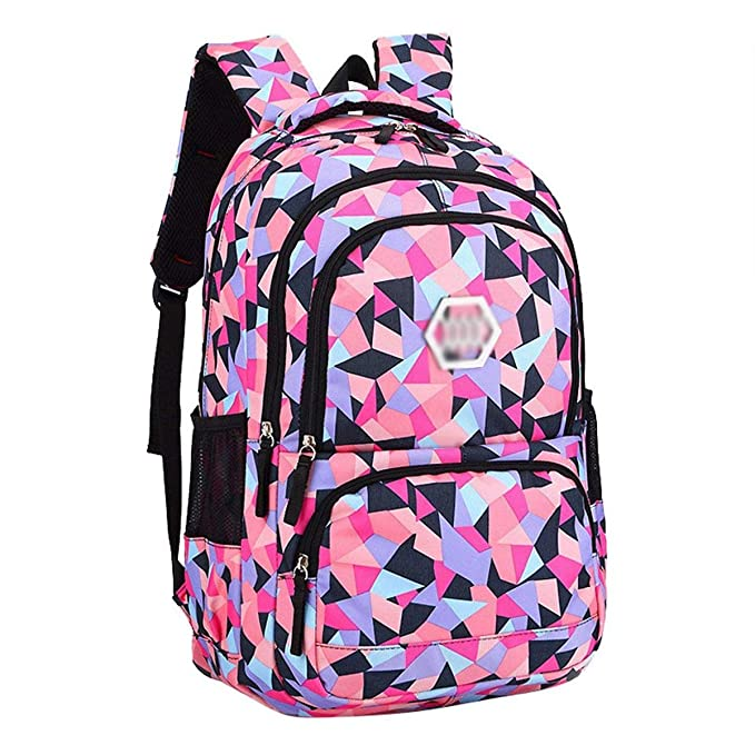 Amazon.com: XHHWZB Waterproof School Backpack for Girls Middle School Cute Bookbag Daypack for Women Rhombus (Color : Black, Size : Big): Office Products