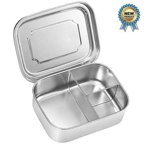 Amazon.com: Caja de almuerzo de acero inoxidable – Sprite ...