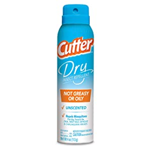Cutter Dry Insect Repellent, Aerosol, 4-Ounce