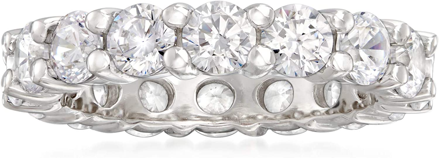 Ross-Simons 3.45 ct. t.w. CZ Eternity Band in Sterling Silver