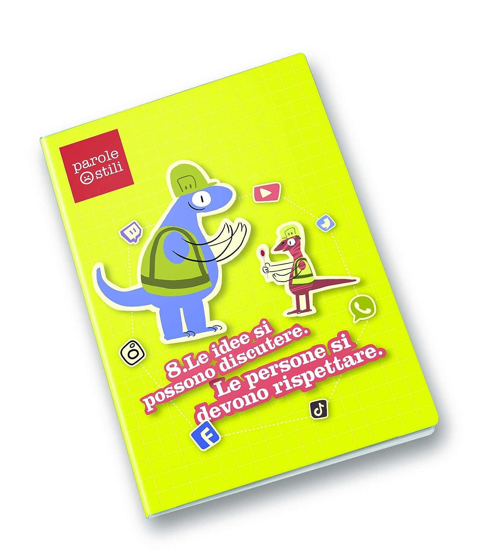 Pigna il Manifesto della comunicazione non ostile Sogggetti//Principi da 1 a 10 Rigatura quadretto 5mm Pacco da 10 pezzi PAROLE OSTILI Quaderno formato A4