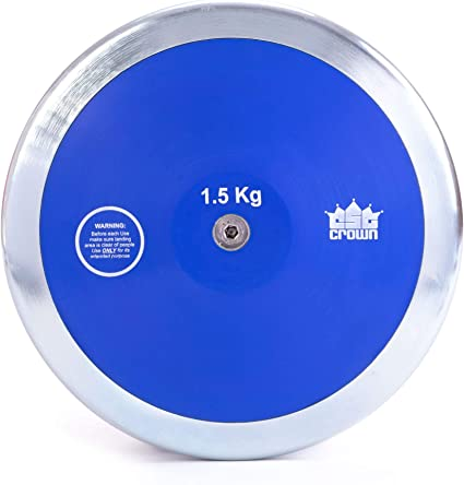 Official Track /& Field Throwing Discus for High School /& College Throwers Crown Sporting Goods 1.5kg High Spin Discus High Spin 80/% Rim Weight Outdoor Competition /& Practice Discus