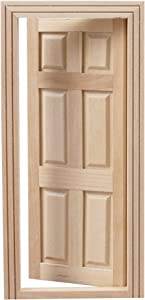 Framendino, 1:12 Dollhouse 6 Panel Doors Miniature Furniture Exquisite Workmanship Mini Simulated Door Furniture Accessory for DIY Scene Doll Home Furniture Craft