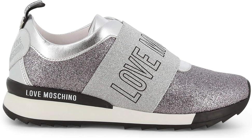 Love Moschino Women Grey Silver Glitter