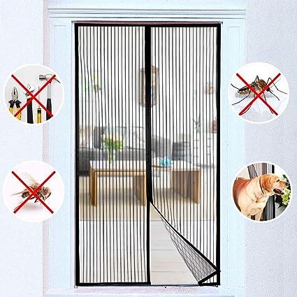 Protecci/ón contra Insectos Mosquitera Magn/ética para Puertas 110x270cm para Pasillos//Puertas Pantalla Magn/éTica Circulacion de Aire Negro