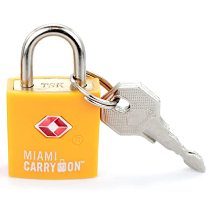 0d172fab0bef Amazon.com: TLL03OR Miami Carry-on TSA Locks - 1 Lock 2 Keys ...