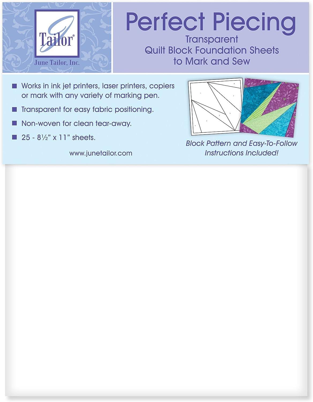 Junio Tailor Transparente juntar las piezas de tela para fácil posicionamiento perfecto