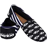 Forever Collectibles NFL Women's Canvas Stripe Shoes