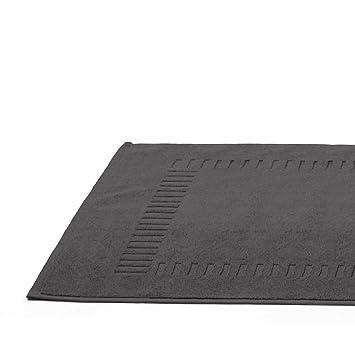 Badezimmerteppich Pure Frottee 50 X 70 Cm Grau Anthrazit