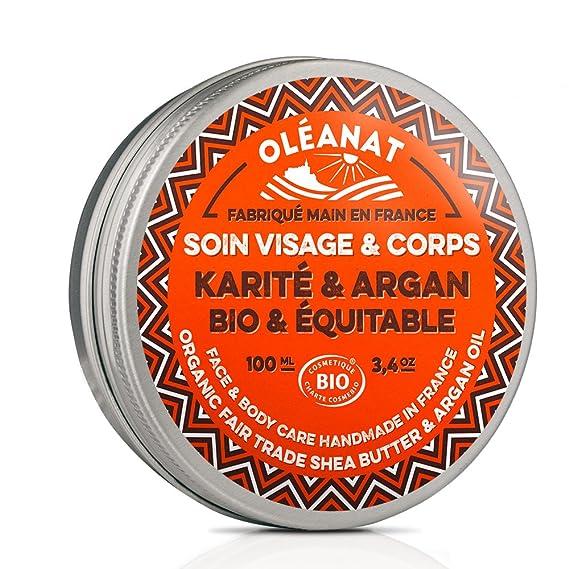 Oléanat Baume au Beurre de Karité et à l'Huile D'argan Bio 100 ml