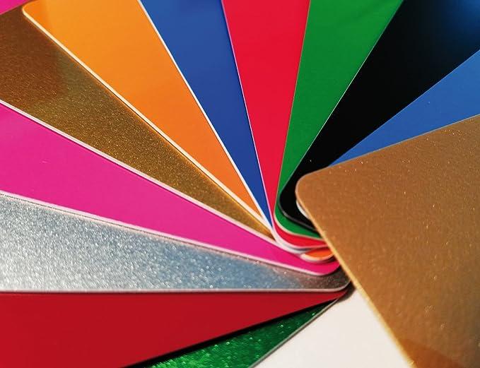5 Plastikkarten BLAU METALLICPremium Qualität aus DeutschlandNEU!