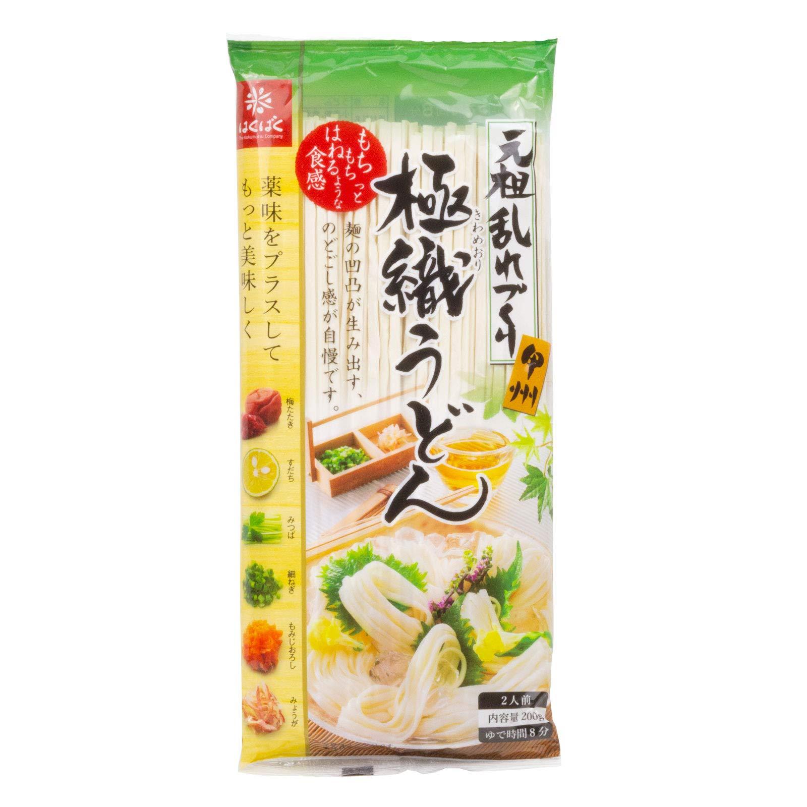 Habakuku Authentic Japanese Udon Noodle, Kiwameori Udon 7oz (10 pack) by HAKUBAKU THE KOKUMOTSU COMPANY