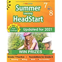 Summer Learning HeadStart, Grade 7 to 8: Fun Activities Plus Math, Reading, and Language Workbooks: Bridge to Success…