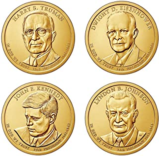 2015 D Complete Set of all 4 Presidential Dollars Uncirculated