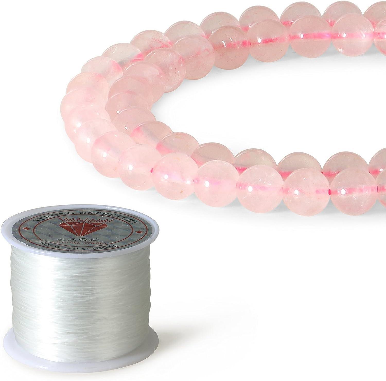 Charmingo - Cuentas redondas sueltas redondas de ónix negro de 8 mm para hacer joyas (45 a 48 piezas)