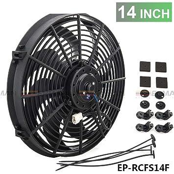 """14 """"eléctrico universal de refrigeración ventilador del radiador curvado S-BLADE para radiador"""