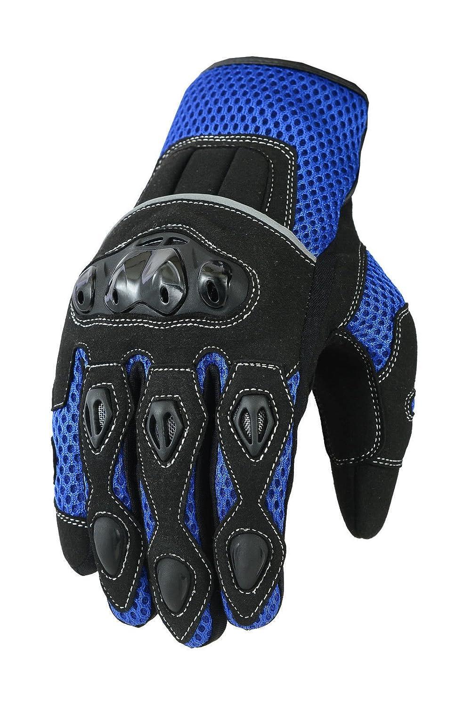 Blue XL Short Summer Mens Motorbike Motorcycle Gloves Mountain Riding Bike Sports Glove