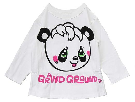 a8d0faa69d1de  GRAND GROUND  ハッピィ~ ロングTシャツ デカパンダ tシャツ 女の子 (130㌢