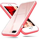 iPhone 8 Plus Case, iPhone 7 Plus Case, Ansiwee Shockproof Soft iPhone 7 Plus Protective Defender Impact Resistant Slim Fit Rubber Bumper Case Cover for Apple iPhone 7/8 Plus 5.5 inch (Red)