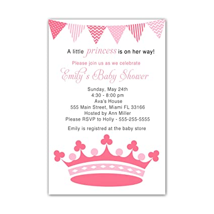 Amazon 30 invitations princess pink coral invite baby girl 30 invitations princess pink coral invite baby girl shower sprinkle or birthday party personalized cards filmwisefo