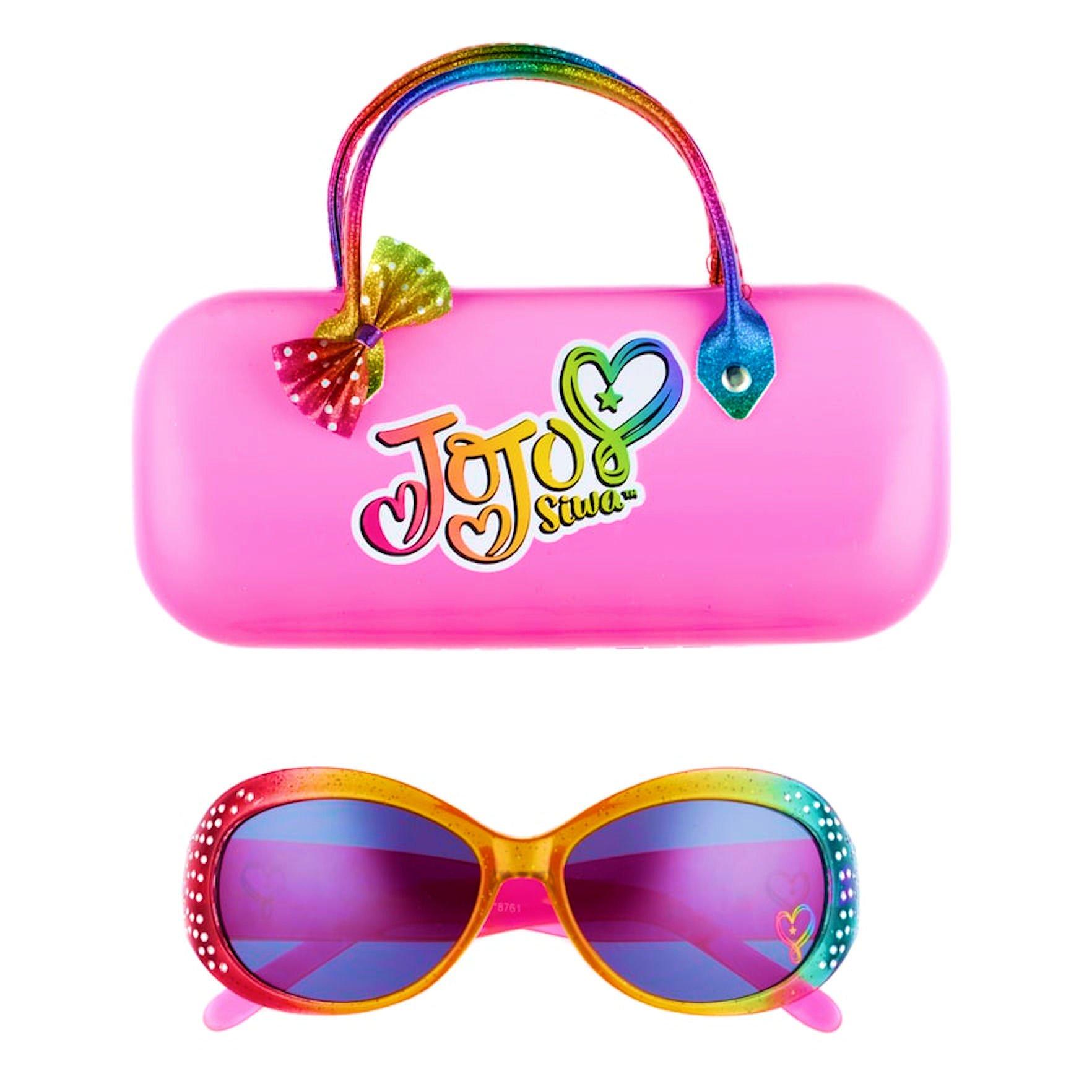 JoJo Siwa Rainbow Rhinestone Sunglasses with Case