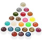 Anself Mix di Colori Glitter Gel per Unghie Gel UV Art Polvere Polacco Estensione Professionale UV Gel Set
