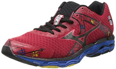 best sneakers 55348 c6919 Mizuno Men s Wave Inspire 10 Running Shoe,Chinese Red Black Directoire Blue,