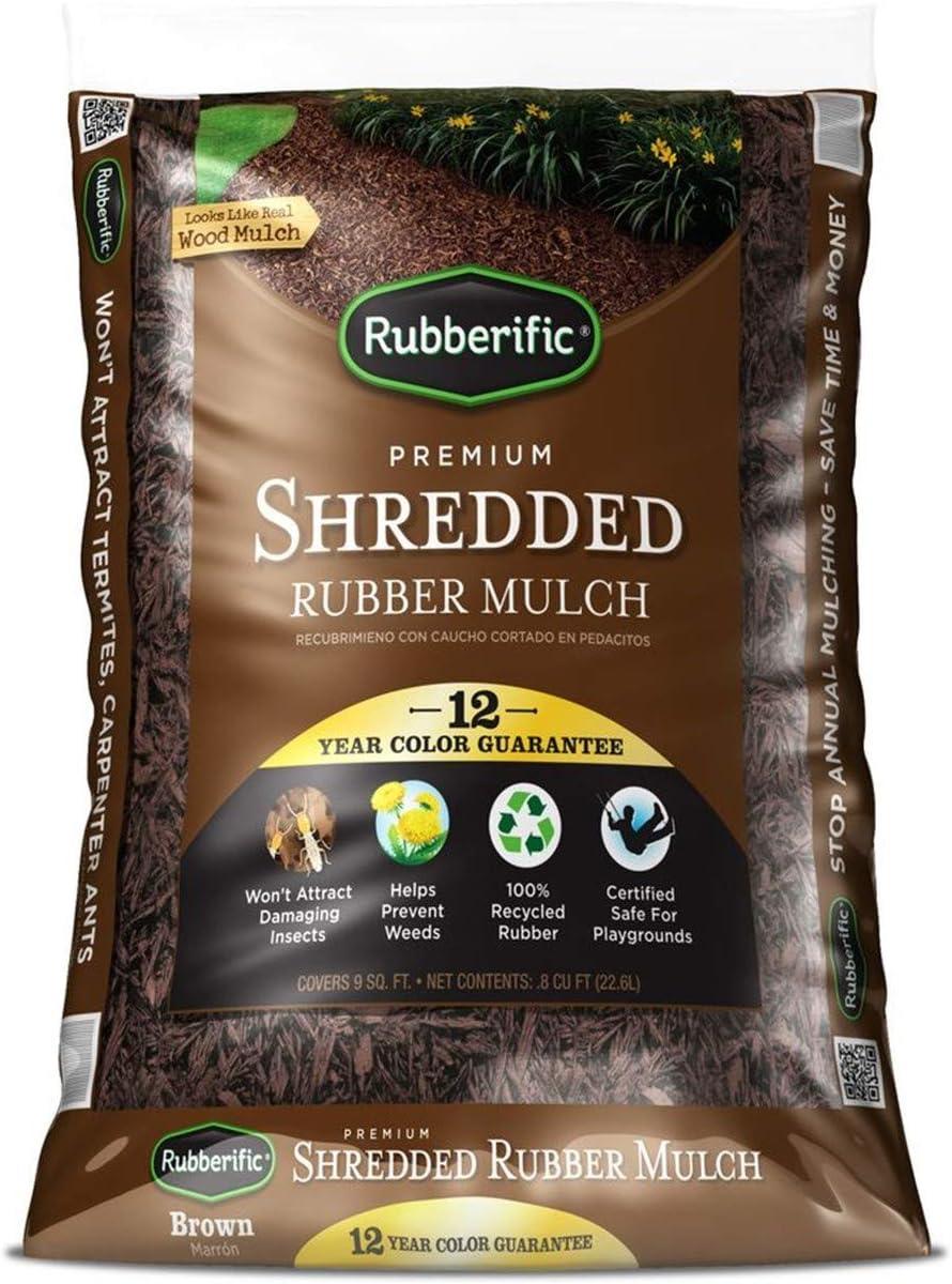 Rubberific Brown Bagged Rubber Mulch