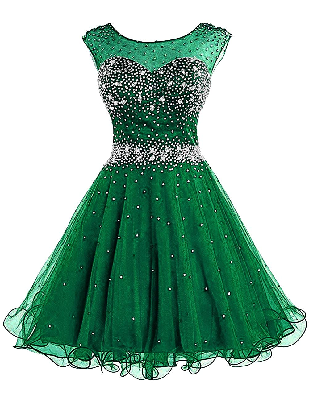 Dark Green H.S.D Homecoming Dresses Prom Party Dresses Short Cocktail Dress Beads Graduation Gown