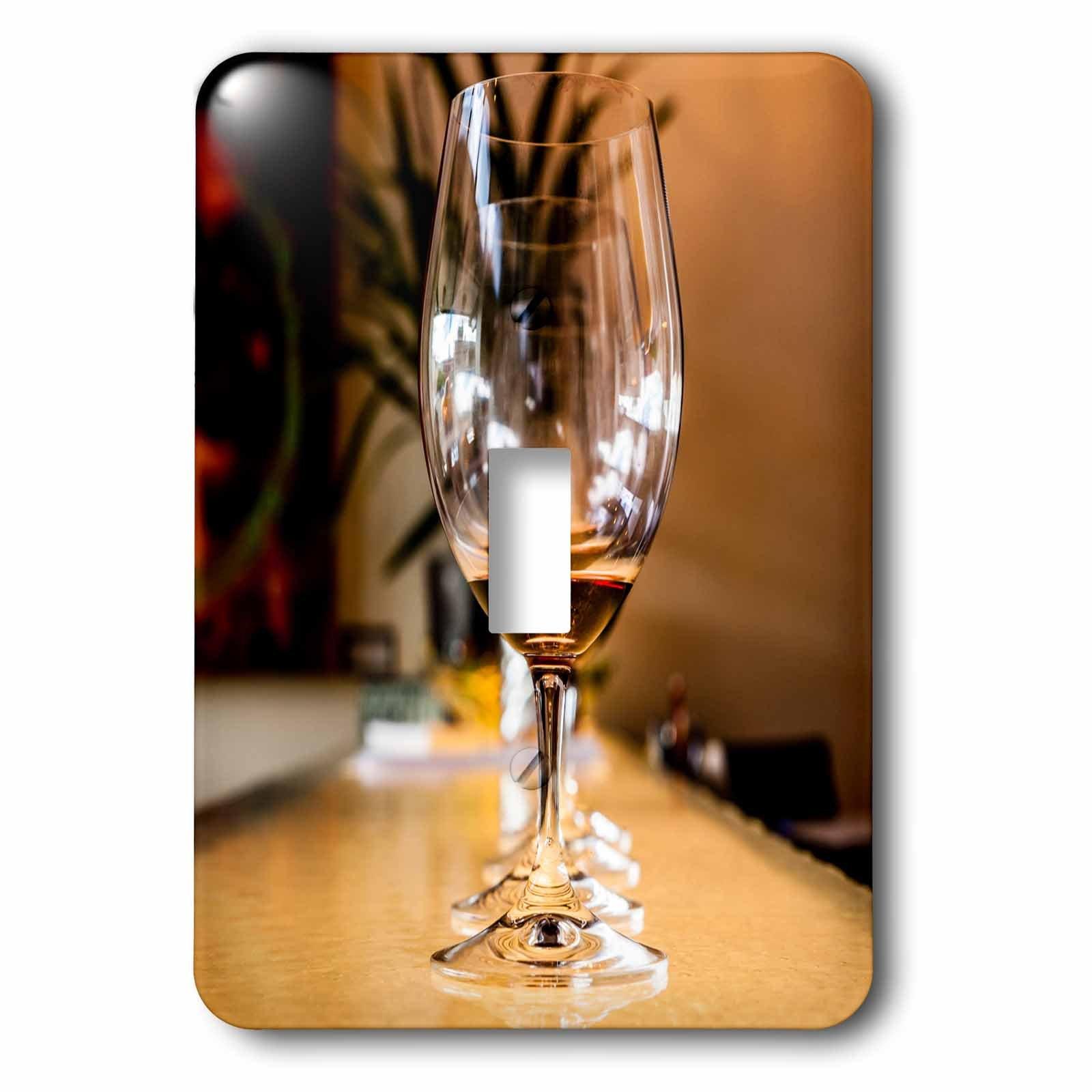3dRose LSP_260513_1 USA, Washington, Wine Glasses Aligned on Counter Toggle Switch,