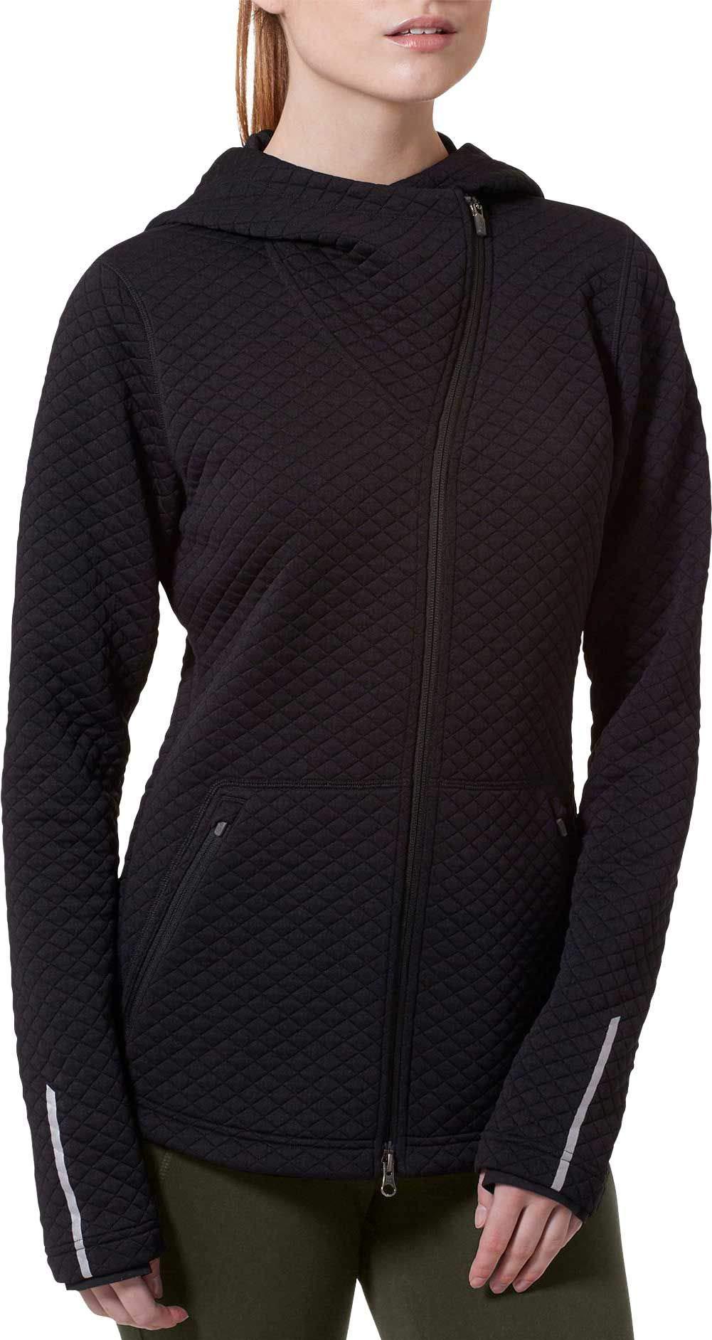 New Balance Women's Heat Loft Asymmetrical Full-Zip Jacket (XS, Black)