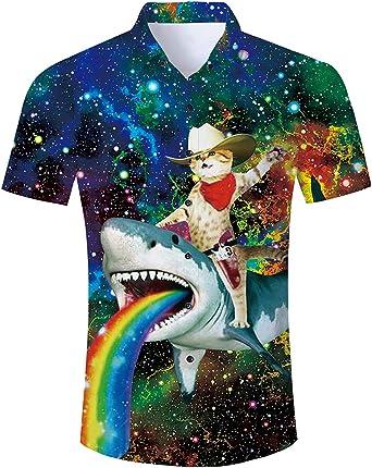 Goodstoworld Camisa Hawaiana para Hombre Mujer Casual Manga Corta Camisas Playa Verano Unisex 3D Estampada Funny Hawaii Shirt S-XL: Amazon.es: Ropa y accesorios