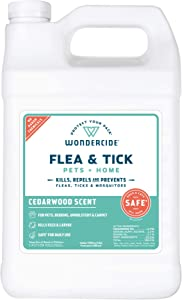 Wondercide Natural Products - Flea, Tick and Mosquito Control for Dogs, Cats, and Home - Flea and Tick Killer, Prevention, Treatment - Eco-Friendly and Family Safe – 128 oz Cedarwood