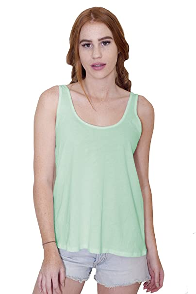 d3fa6c3834 Women's Certified Organic Cotton Loose Fit Flowy Tank Top - Non-GMO, Eco  Friendly, Made in The USA at Amazon Women's Clothing store: