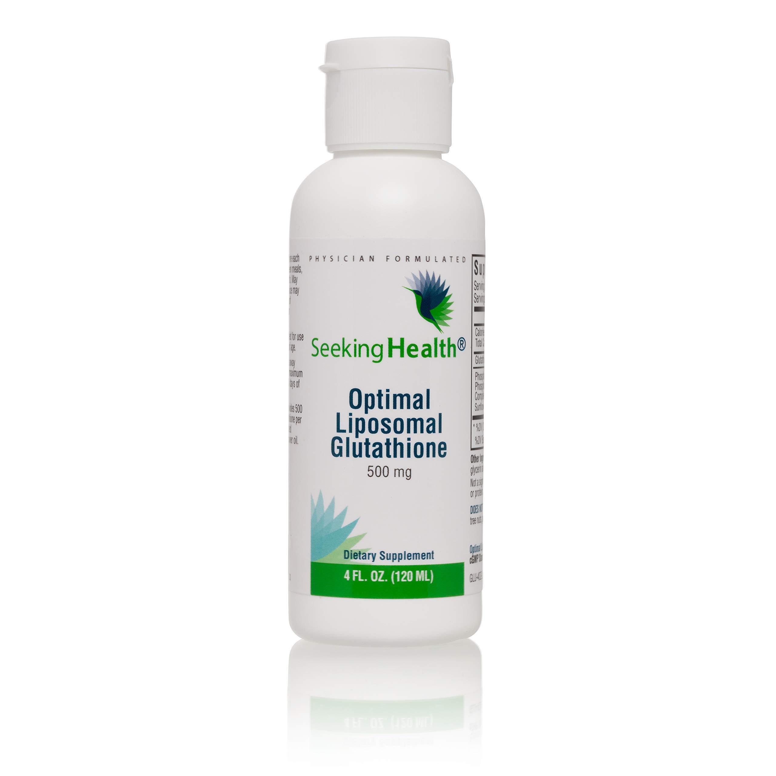 Optimal Liposomal Glutathione | Non-Soy and Non-GMO | Provides 500 mg of Liposomal Glutathione per Teaspoon | 4 oz | 30 Servings