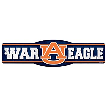 amazon com ncaa auburn tigers war eagle sign 4 5 x 17 inch rh amazon com Auburn Tiger Black and White Auburn Tigers Tattoo Designs