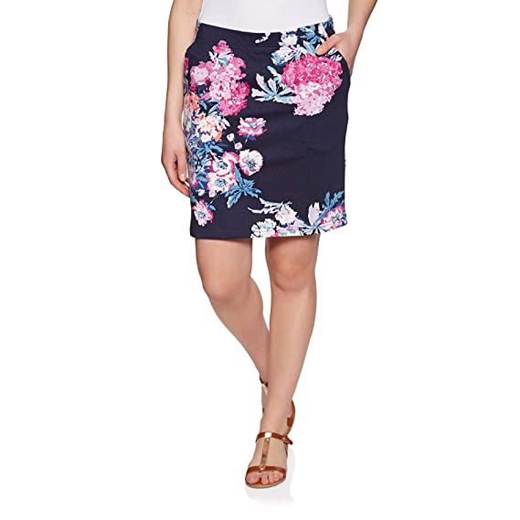 dfd2698da2 Joules Womens Portia Print Jersey Skirt - Navy Floral: Amazon.co.uk:  Clothing