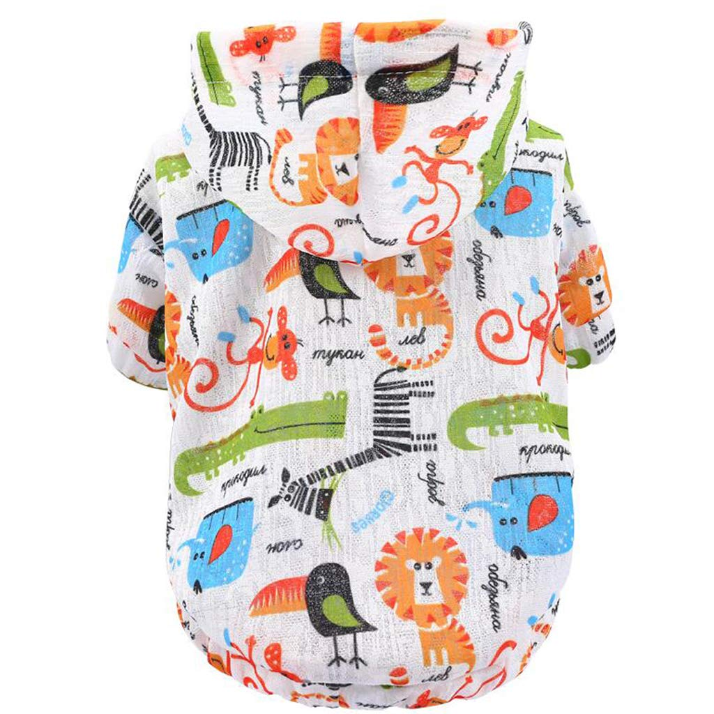 colord orange X-Small colord orange X-Small Dog Clothes Summer Sunscreen Breathable Clothing Thin Section Clothing Milk Dog pet Small Dog