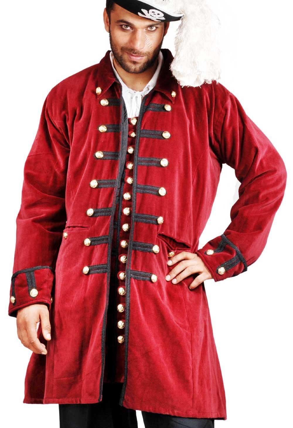 Medieval Renaissance Pirate Captain Benjamin Coat (XL)