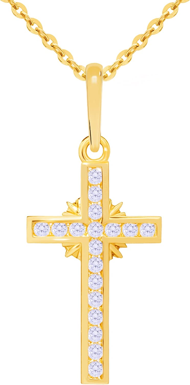 14k Yellow Gold Classic Cross Religious Pendant More