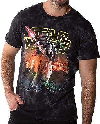 BLAICER Camiseta Star Wars Hombre Manga Corta con Cuello Redondo - T Shirt Friki Stormtrooper con Efecto Tie Dye (S): Amazon.es: Ropa y accesorios